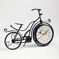 Часы настольные 'Велосипед ретро', плавный ход, 23 х 33 см, d11 см