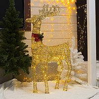 Фигура светодиодная 'Олень золотой' 120 см, 120 LED, 220V, Т/БЕЛЫЙ