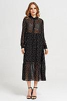Женское летнее шифоновое черное нарядное платье Панда 43580z черно-молочный 42р.