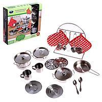 Набор металлической посуды 'Праздничный обед'