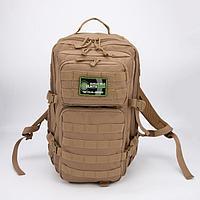 Рюкзак туристический, 35 л, 2 отдела на молниях, 2 наружных кармана, цвет бежевый