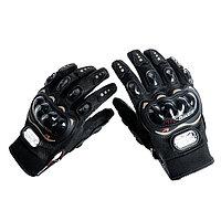 Перчатки для езды на мототехнике, с защитными вставками, пара, размер M, черные