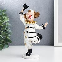 Сувенир полистоун 'Клоун в полосатом костюме' чёрно-белый с золотом 18х7х10 см