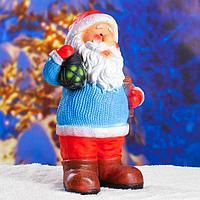 Статуэтка 'Дед мороз с фонариком' с блестками 48см.