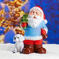 Статуэтка 'Дед мороз с елкой' с блестками 37см.