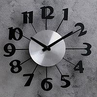 Часы настенные, серия Интерьер, 'Большие цифры', плавный ход, 31 х 31 см, d31 см