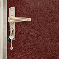 Комплект для обивки дверей 110 x 205 см иск.кожа, ватин 5 мм, гвозди, струна, бордовый, 'Ватин'
