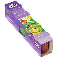 Тесто для лепки 4 цв х 180 г 'Гамма' 'Малыш' + 6 формочек, в картонном рукаве