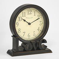 Часы настольные 'Love', плавный ход, 20.5 х 18.5 см, d14 см