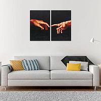Модульная картина'Руки', 80 х 60 см