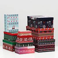 Набор коробок 10 в 1 'Вязаный', 30,5 х 20 х 13 - 12 х 6,5 х 4 см