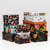 Набор коробок 10 в 1 'Мандарины', 30,5 х 20 х 13 - 12 х 6,5 х 4 см