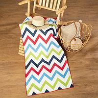 Полотенце пляжное с ручками Этель 'Зигзаги', 70*140 см,250гр/м2,100п/э