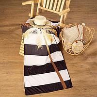 Полотенце пляжное с ручками Этель 'Пальма', 70*140 см,250гр/м2,100п/э