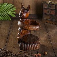 Подставка под бутылку дерево 'Кошка' 12х10х25 см МИКС