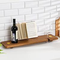 Столик на ванну деревянный 'Relax' орех
