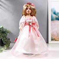 Кукла коллекционная керамика 'Принцесса Лидия в нежно-розовом платье' 40 см