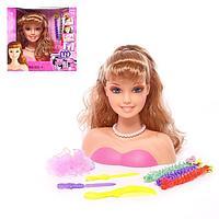 Кукла-манекен для создания причёсок 'Модница' с аксессуарами