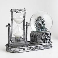 Часы песочные 'Лондонское колесо обозрения', с подсветкой, 16х8х13.5 см, (3ААА)