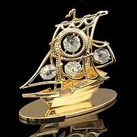 Сувенир 'Корабль',4,5x10x9 см, с кристаллами Сваровски