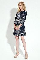 Женское осеннее синее нарядное платье Панда 18480z мультиколор 42р.