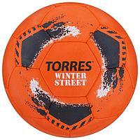 Мяч футбольный TORRES Winter Street, размер 5, 32 панели, резина, 4 подслоя, ручная сшивка, цвет оранжевый