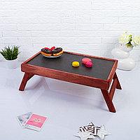 Столик для завтрака складной, 50x30см, морёный, 'Добропаровъ'