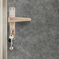 Комплект для обивки дверей, 1,1 x 2 м иск.кожа, поролон 5 мм, гвозди, струна, серый, 'Рулон'