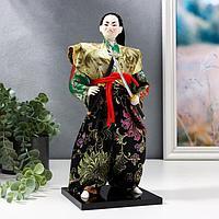 Кукла коллекционная 'Самурай в кимоно и с повязкой'
