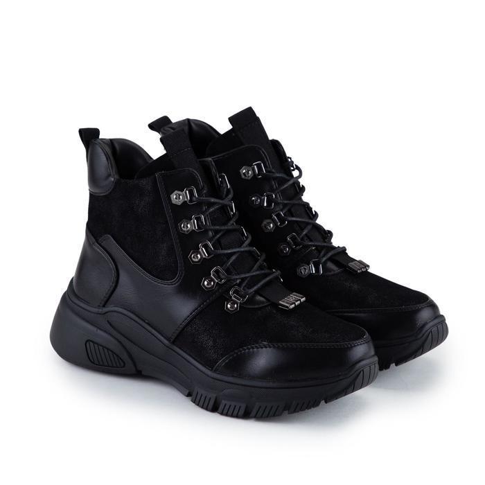 Ботинки женские, цвет чёрный, размер 36 - фото 1