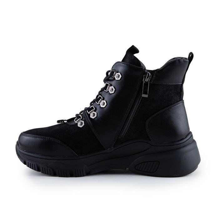 Ботинки женские, цвет чёрный, размер 36 - фото 2