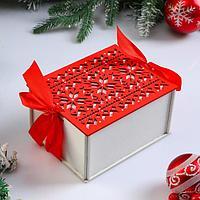 Коробка деревянная, 16x13x8.7 см 'Новогодняя. Норвежская', подарочная упаковка