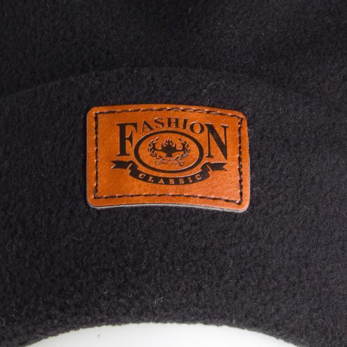 Комплект (шапка, снуд) детский, цвет чёрный, размер 54-56 - фото 3
