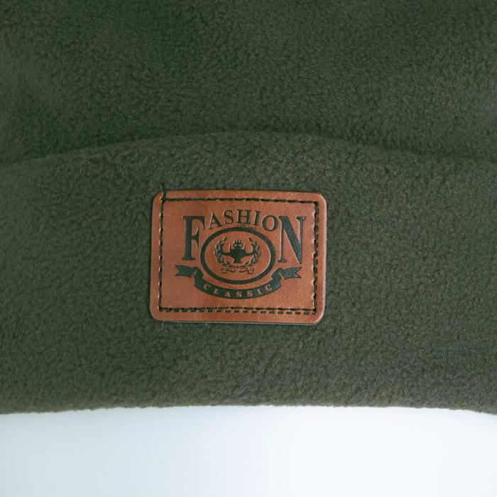 Комплект (шапка, снуд) детский, цвет хаки, размер 54-56 - фото 3