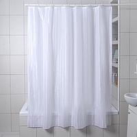 Штора для ванной комнаты Доляна 'Полоска', 180x180 см, полиэстер, цвет белый