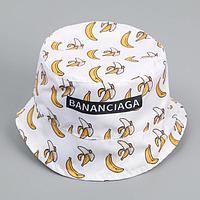 Панама 'Бананы', цвет белый