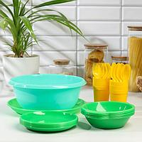 Набор посуды Альт-Пласт 'Всегда с собой', на 6 персон, 32 предмета