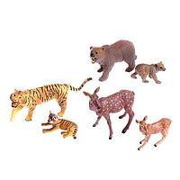 Набор диких животных 'Дети и родители', 6 фигурок