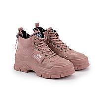 Ботинки женские, цвет розовый, размер 39