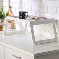 Столик поднос для завтрака складной 'КЛИПСК', белый