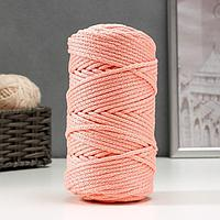 Шнур для вязания с сердечником 100 полиэфир, ширина 5 мм 100м/550гр (134 св. розовый)