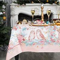 Набор столовый Pink magic скатерть 150х110см +/-3см с ГМВО, салфетки 40х40см-4 шт, хл100