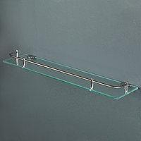 Полка для ванной комнаты 49,5x11x3,5 см, металл, стекло