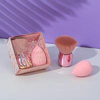 Кисть для макияжа со спонжем 'Красота внутри' 8,9 х 4,9 х 8,9 см
