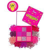 Палетка пигментов для макияжа 7 DAYS EXTREMELY CHICK 501 Pink punk, 9 г