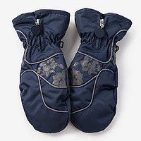 Варежки для девочки, цвет синий, размер 16