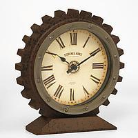 Часы настольные 'Шестеренка', плавный ход, 21 х 20 см, d13.5 см