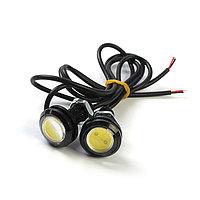 Дневные ходовые огни KS, KS-Н004, линза, металл, провода, 22х33х22 мм, 2 шт