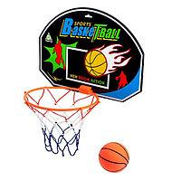 Баскетбольный набор 'Крутой бросок', с мячом, диаметр мяча 12 см, диаметр кольца 23