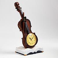 Часы настольные 'Скрипка', дискретный ход, 33 х 15 см, d8 см